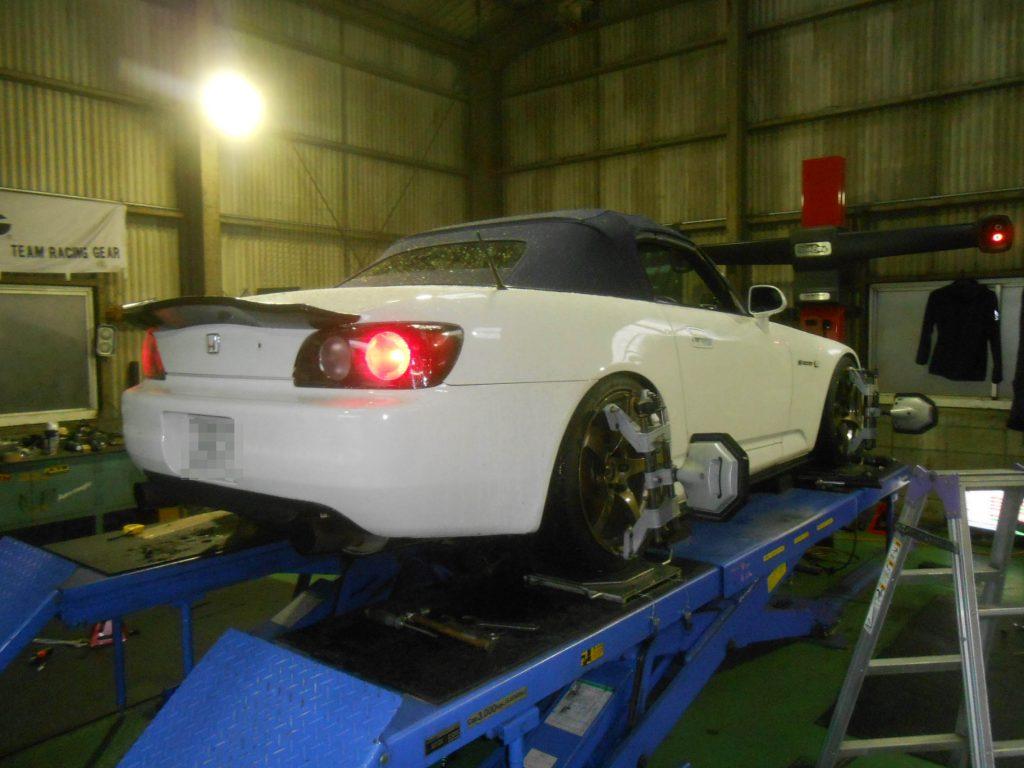 AP1 S2000 車高調取付 四輪アライメント