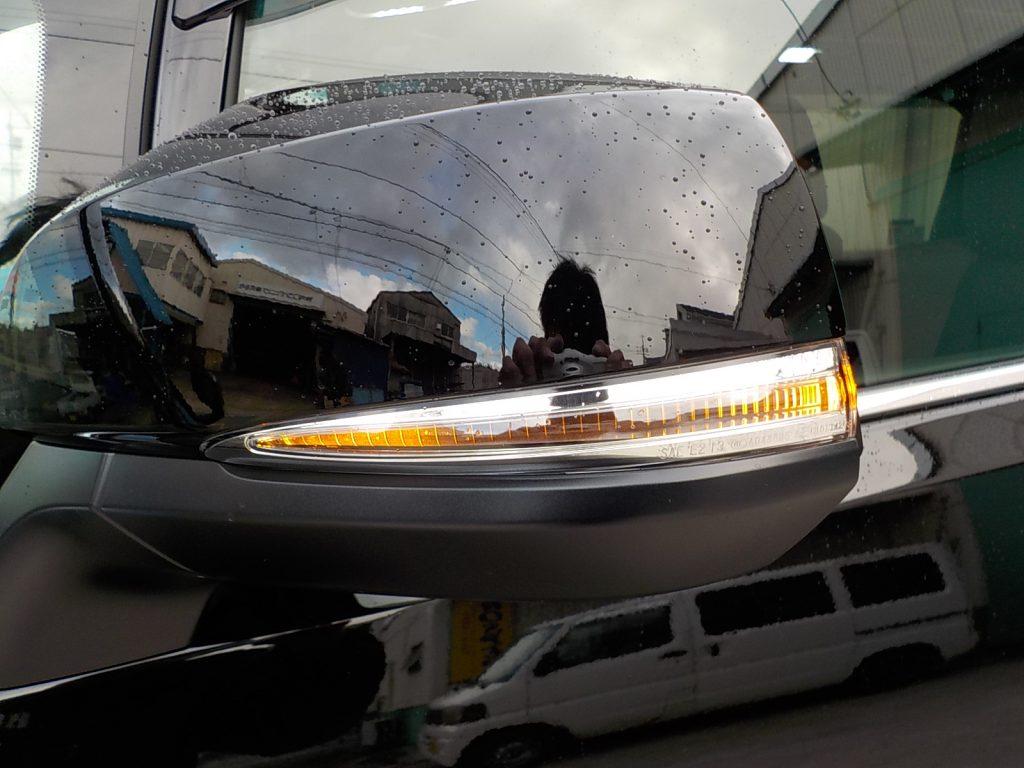 新型アルファード LEDリフレクターリフレクターとウインカーポジション取付