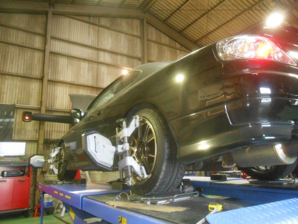 シルビア S15 車高調整 四輪アライメント