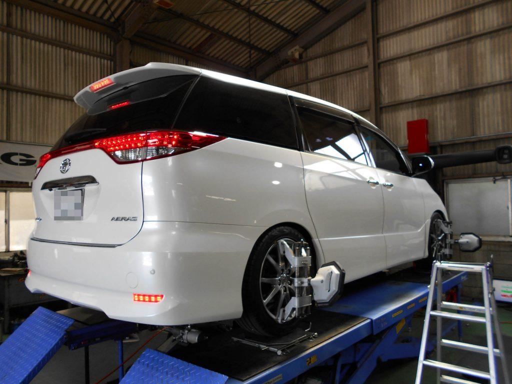 エスティマ ACR50W 車高調取り付け 四輪アライメント