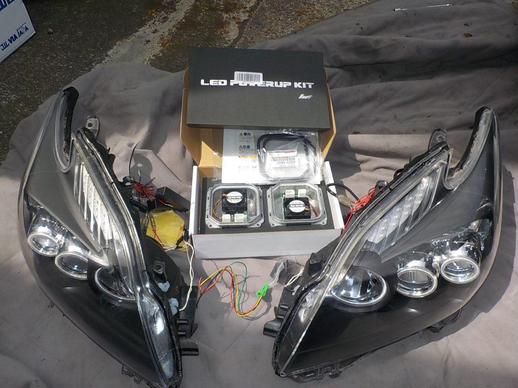 30プリウス 加工ヘッドライト交換