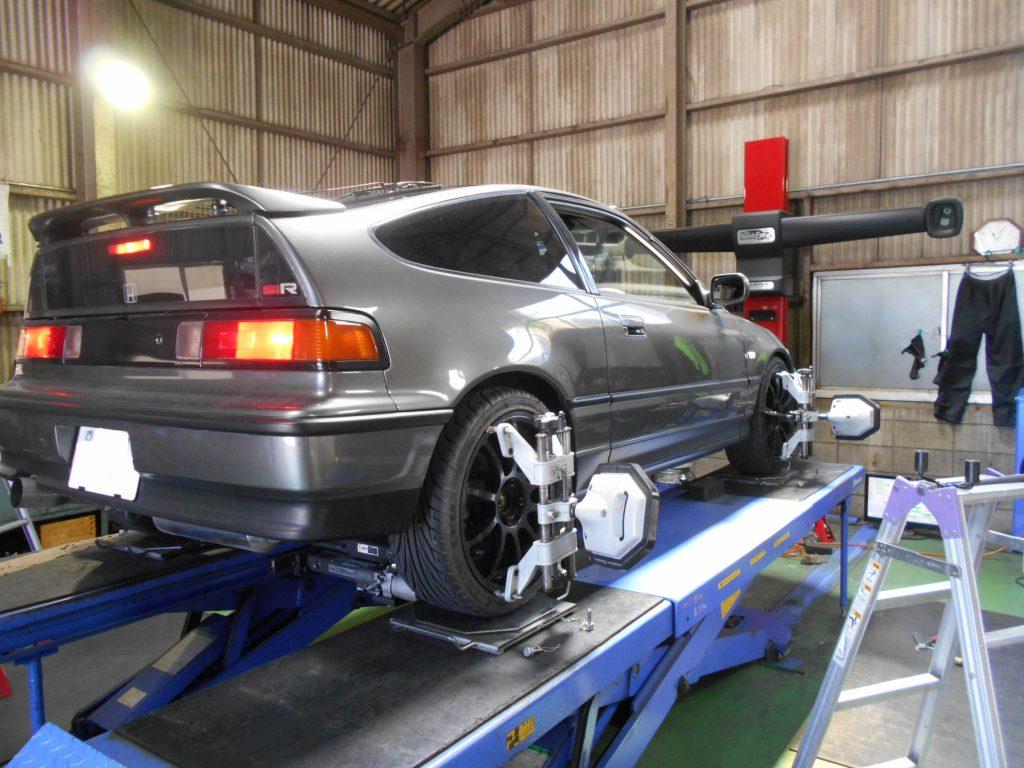 CR-Xの四輪アライメント