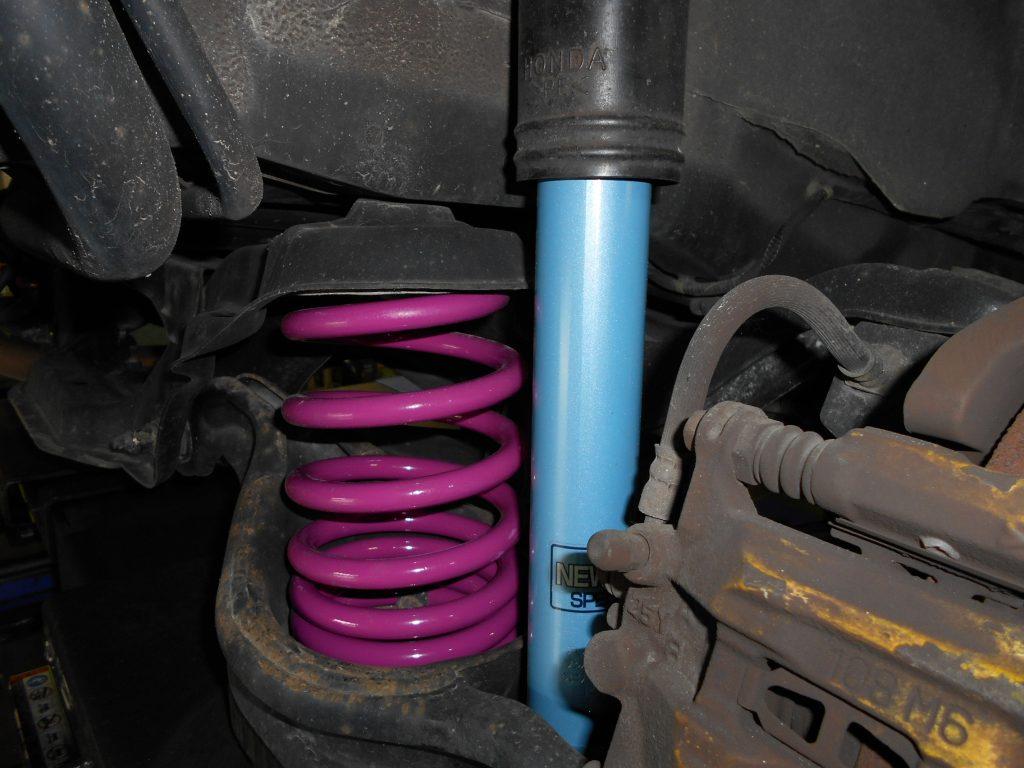 ステップワゴン RF3 サスペンション交換とアライメント