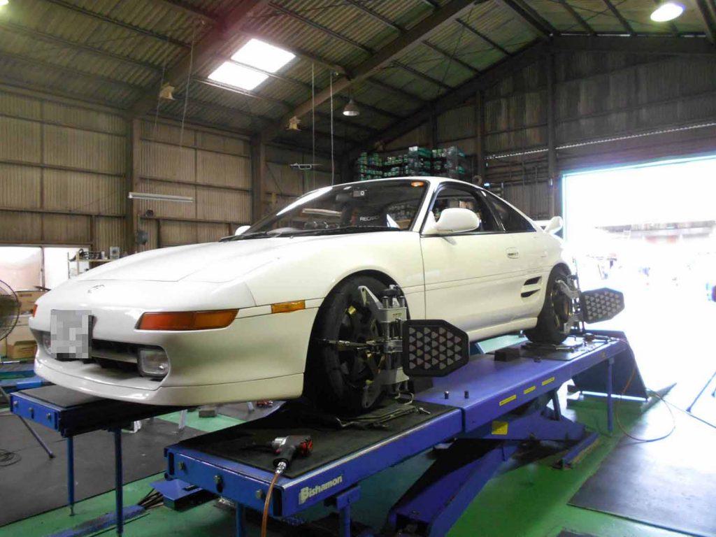 MR2 SW20 持込タイヤ交換と四輪アライメント