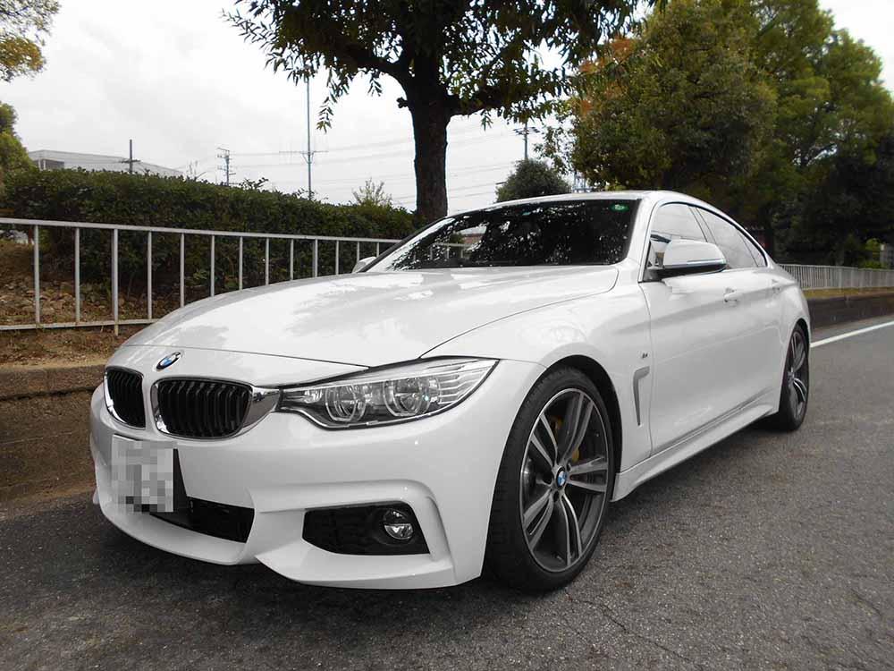 BMW F36 ビルシュタイン持込交換と四輪アライメント