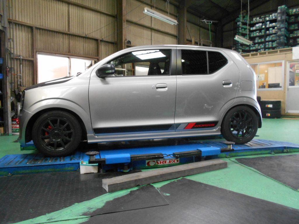 アルトワークス HA36S TEIN車高調の取り付けとキャンバーシムの交換