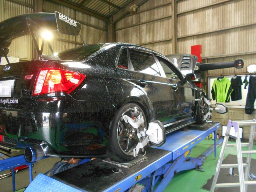 インプレッサ WRX GVBの車高調整と四輪アライメント