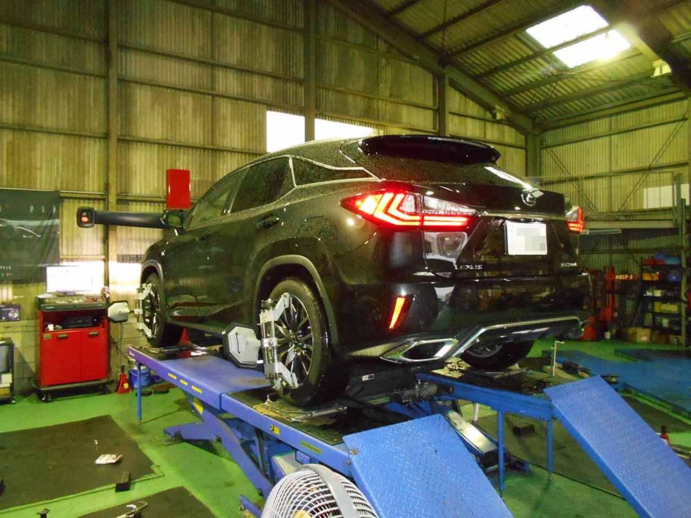 レクサス RX250Tにモデリスタスプリング交換と四輪アライメント