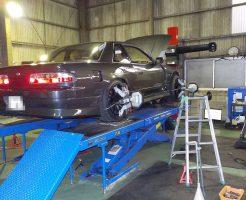 S13シルビア四輪アライメント