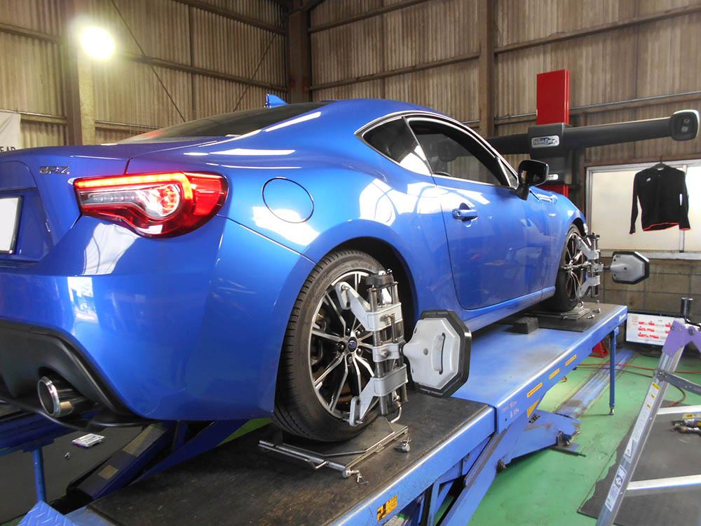 BRZに持込車高調の取り付けと四輪アライメント