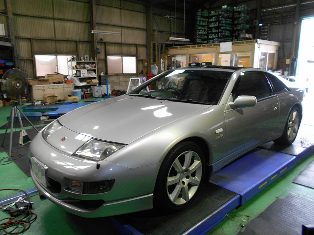 Z32にTEIN  STREET ADVANCE Z の取り付けと四輪アライメント