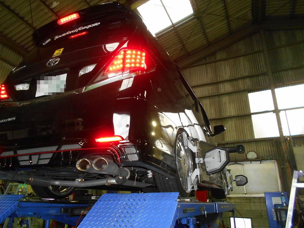 ヴェルファイア ANH20WにHKS車高調の取付と四輪アライメント