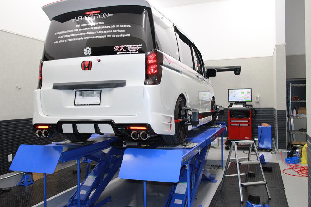 ステップワゴン エアサス車の四輪アライメント