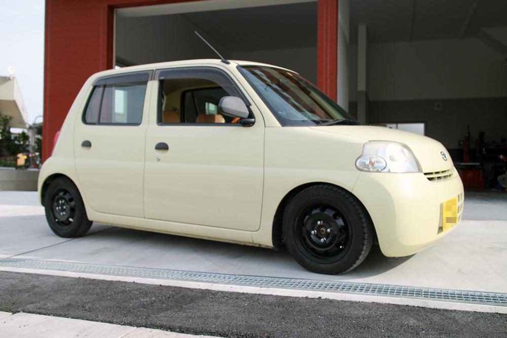エッセ L235に車高調の取付と四輪アライメント