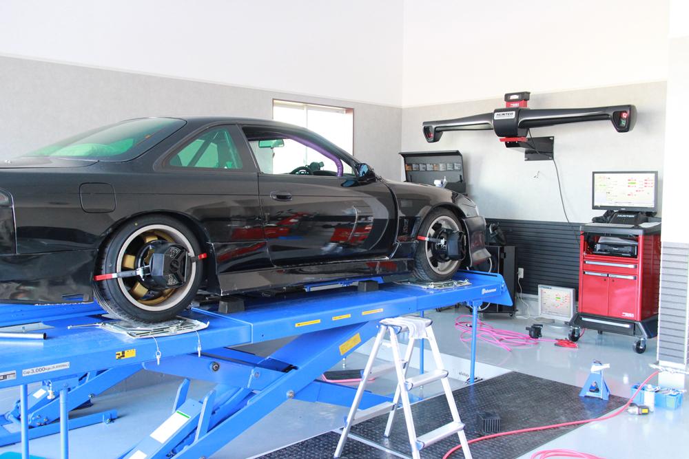 S14シルビアの四輪アライメント