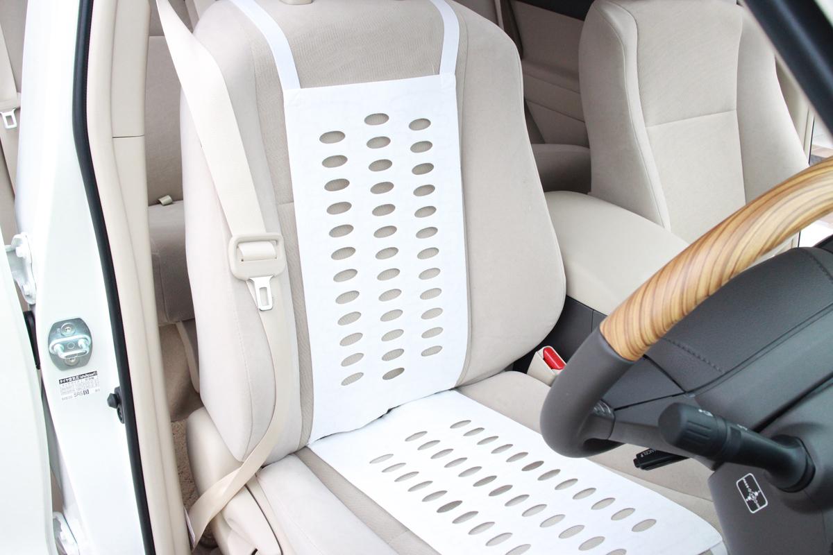 背中のシートヒーター