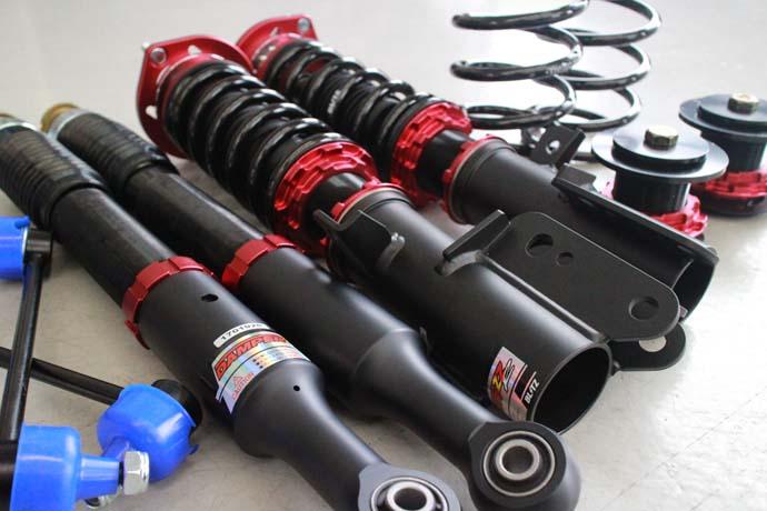 コペン エクスプレイLA400Kに車高調の取り付けと リジカラの取り付け、四輪アライメント