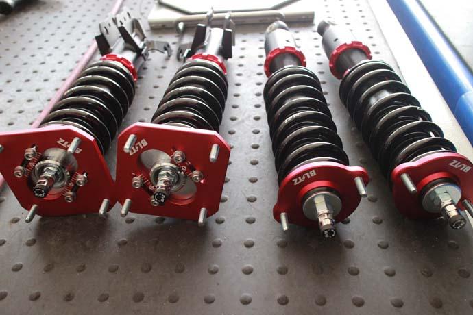 スターレット EP91に車高調の取り付けと四輪アライメント