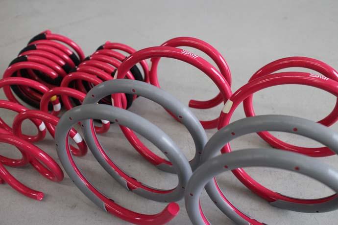 WRX STIにSTIスプリングの取付と四輪アライメント