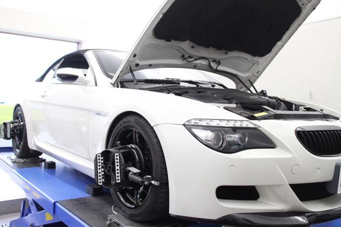 BMW E63にダウンサスの取付と四輪アライメント