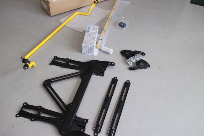 S660のSPOONのパーツ各種の取り付け