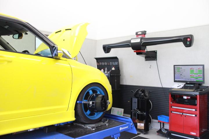 スイフト ZC31 車高調スプリング交換 四輪アライメント調整