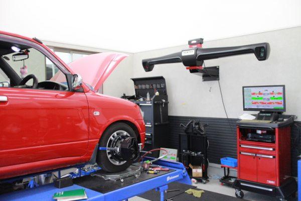 ミラ L700S 車高調の調整などと四輪アライメント調整