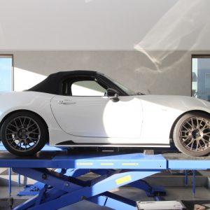 ロードスター ND5RC ブリッツ車高調スプリング交換 四輪アライメント調整
