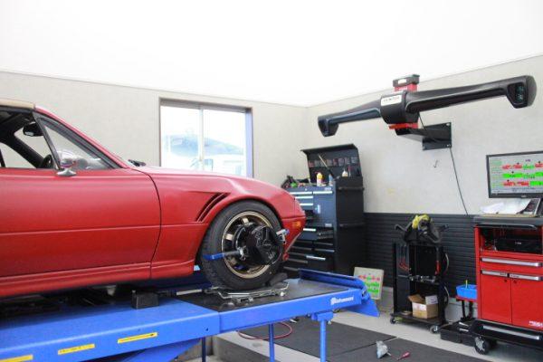 ロードスター NA8C 四輪アライメント調整
