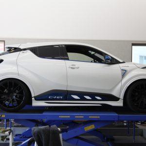 C-HR 車高調取り付け 四輪アライメント調整