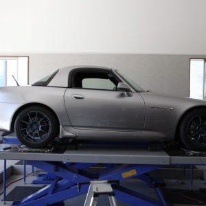 S2000 車高調取り付け 四輪アライメント調整