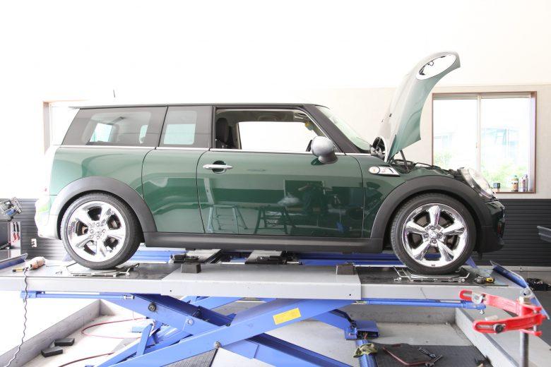 MINI R55 車高調取り付け 四輪アライメント調整