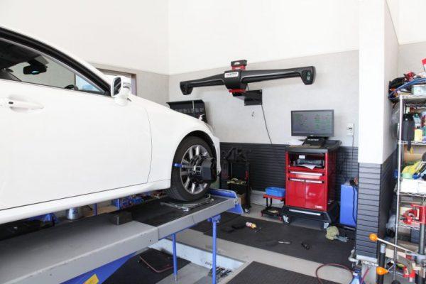 レクサス IS GSE20 サスペンション交換 四輪アライメント調整
