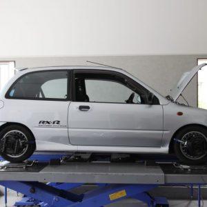 ヴィヴィオ KK3 車高調取り付け 四輪アライメント調整