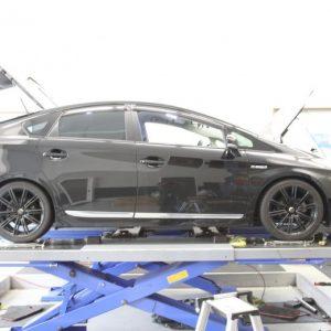 30プリウス 車高調取り付けクスコスタビライザー交換 四輪アライメント調整