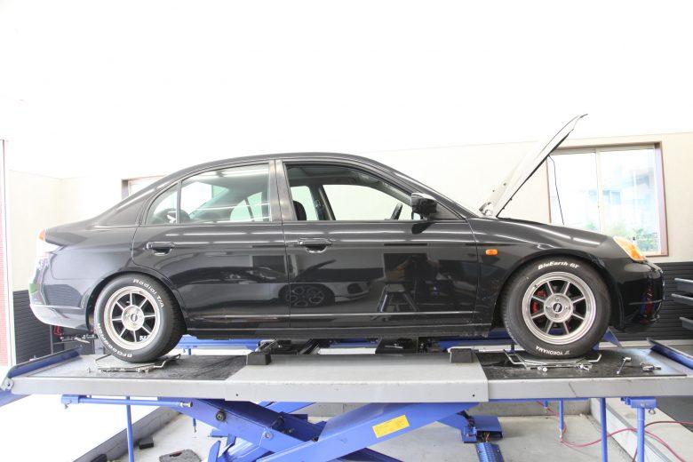 シビック ES1 フロント車高調 四輪アライメント調整