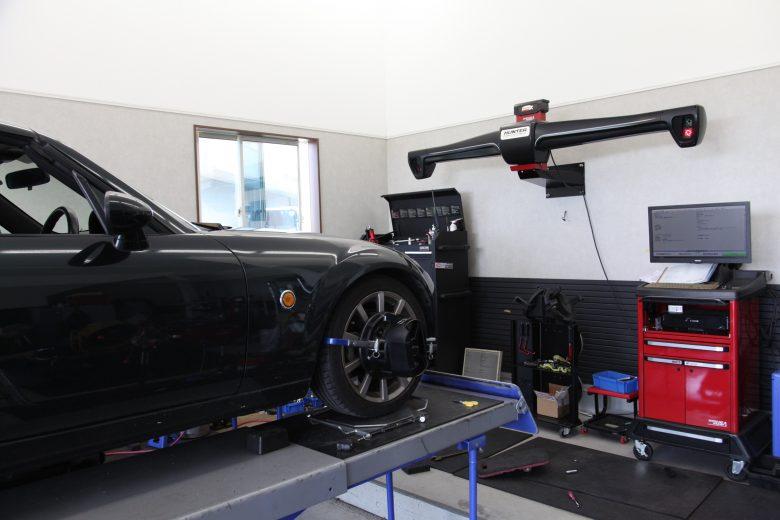 ロードスター NCEC 車高調取り付け 四輪アライメント調整
