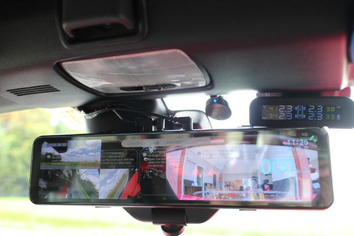 S660 ミラー型ドライブレコーダーとバックカメラの取り付け