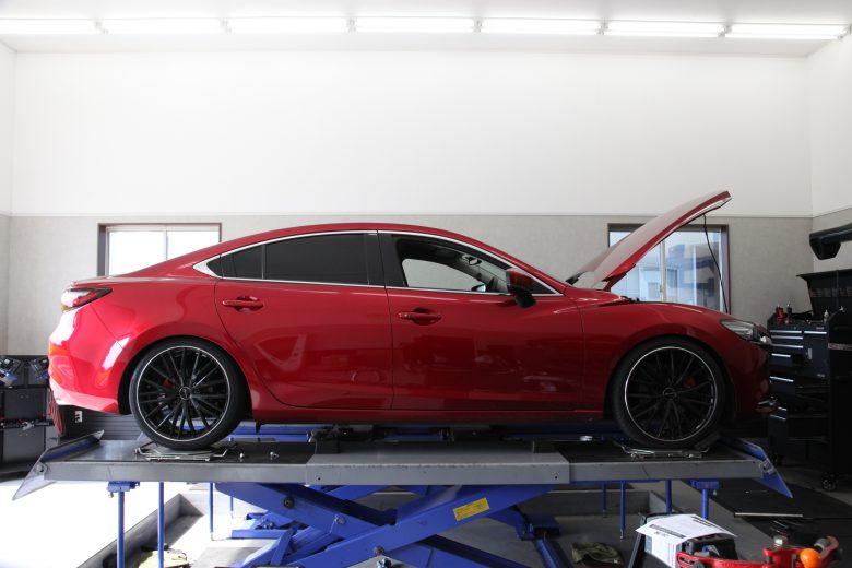 アテンザ Gj2FS ブリッツ車高調取り付け 四輪アライメント調整