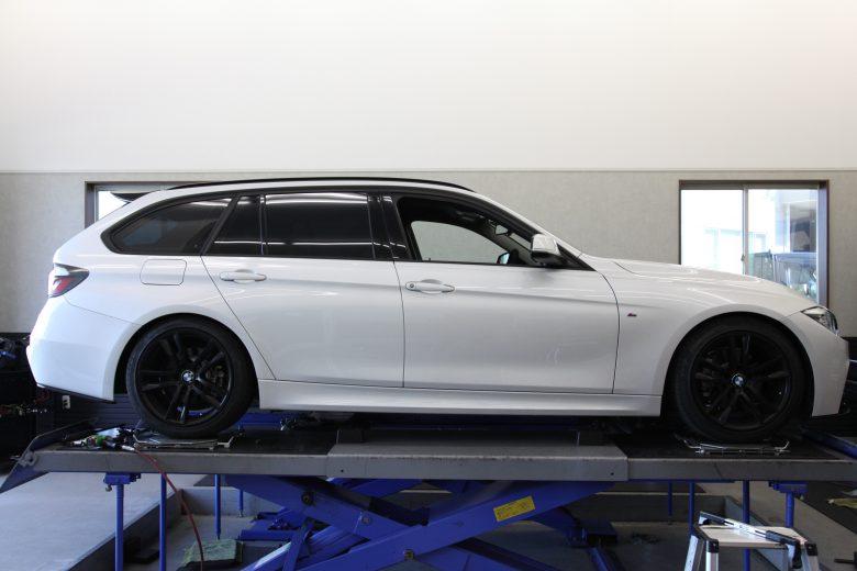 BMW F31 ブリッツ車高調整 1G締め作業 四輪アライメント調整