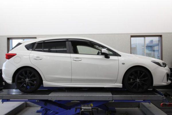 インプレッサ GT3 RS-Rダウンサス取り付け 四輪アライメント調整