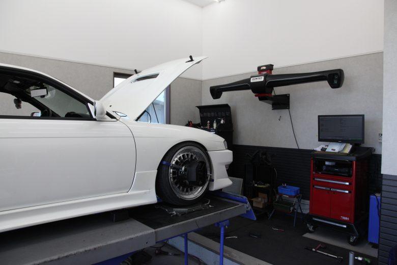 S14 シルビア 四輪アライメント調整