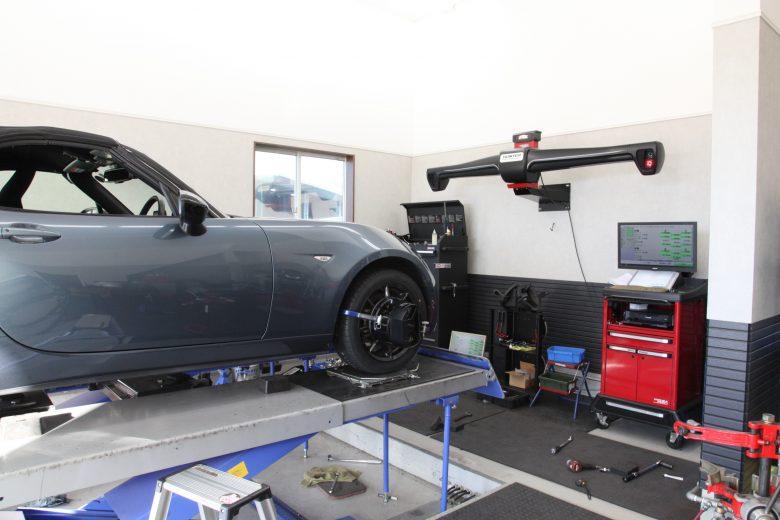 NDロードスター 持ち込みタイヤ交換 四輪アライメント調整
