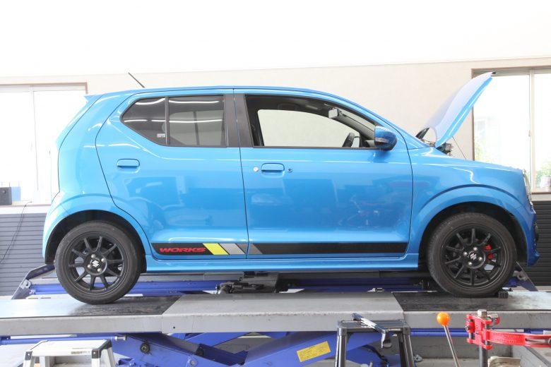 アルトワークス HA36S 4WD RS-Rダウンサス取り付け 四輪アライメント調整