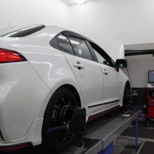 ステップワゴン RK1にTEINの車高調の取付とEDFC取付・四輪アライメント