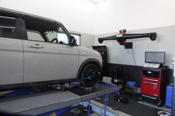 ラパン HE33 サスペンション交換 四輪アライメント調整