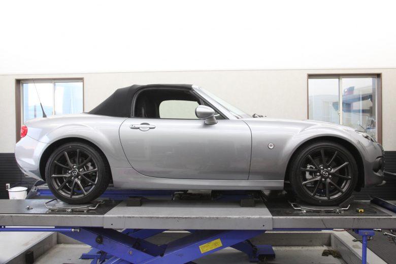 ロードスター NCEC オートエグゼ車高調取り付け 四輪アライメント調整