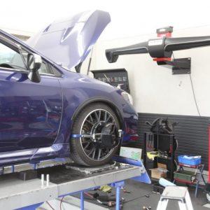アルトワークス HA36S にKYBローファースポーツキットの取り付けと四輪アライメント