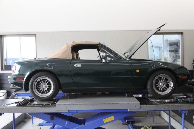 ロードスター NA6CE サスペンション交換 四輪アライメント調整
