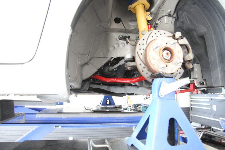 ワゴンR MH34S オートエグゼスタビライザー取り付け 1G締め 四輪アライメント調整